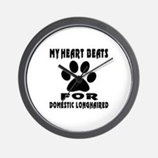 My Heart Beats For Domestic longhaired Wall Clock