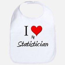 I Love My Statistician Bib