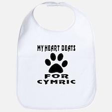 My Heart Beats For Cymric Cat Bib