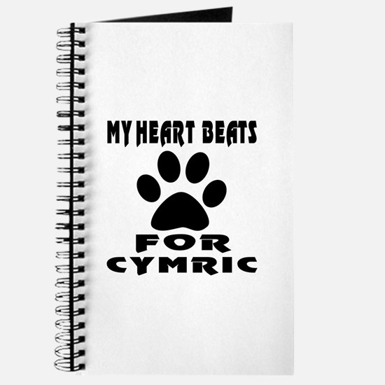 My Heart Beats For Cymric Cat Journal