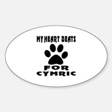 My Heart Beats For Cymric Cat Decal