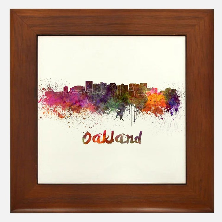 I Love Oakland Framed Tile