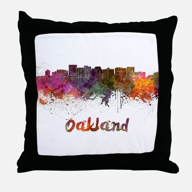 I Love Oakland Throw Pillow