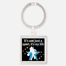 BASKETBALL GIRL Square Keychain