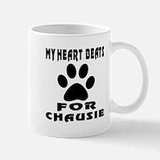 My Heart Beats For Chausie Cat Mug