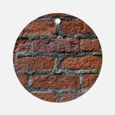 Old brick wall Round Ornament