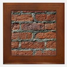 Old brick wall Framed Tile