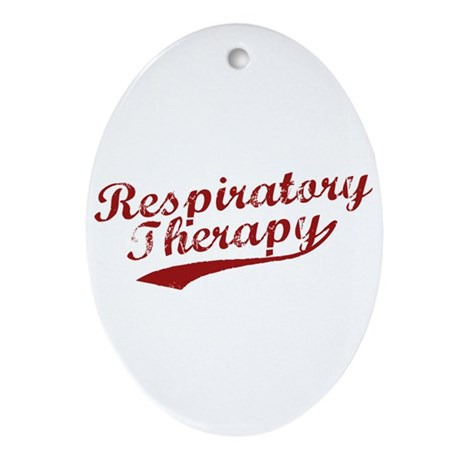 Respiratory Therapy Oval Ornament