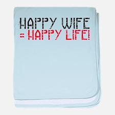 Happy Life baby blanket