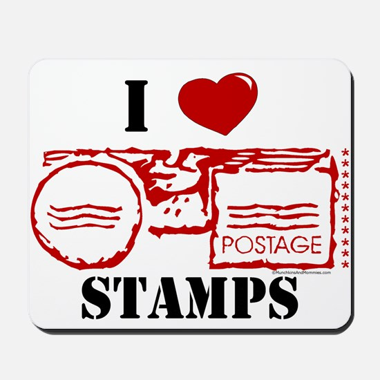I Love Stamps Mousepad