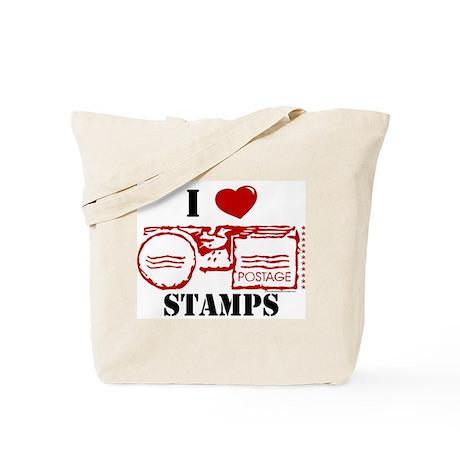 I Love Stamps Tote Bag
