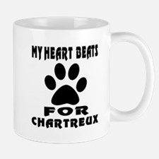 My Heart Beats For Chartreux Cat Small Small Mug