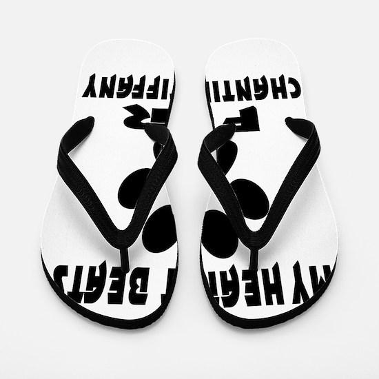 My Heart Beats For Chantilly Tiffany Ca Flip Flops