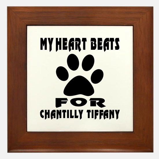 My Heart Beats For Chantilly Tiffany C Framed Tile