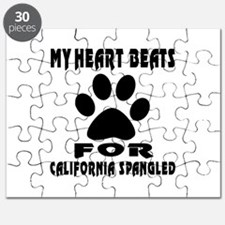 My Heart Beats For California Spangled Cat Puzzle
