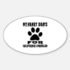 My Heart Beats For California Spang Decal