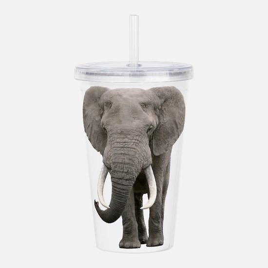 Realistic elephant des Acrylic Double-wall Tumbler