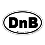 Drum and Bass DnB Euro Style Oval Sticker