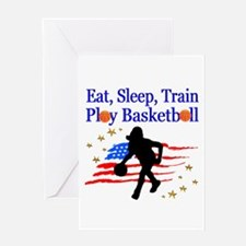 PLAY BASKETBALL Greeting Card
