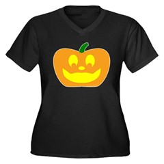 Happy Pumpkin Halloween Women's Plus Size V-Neck D