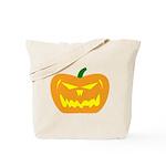 Scary Pumpkin Halloween Tote Bag