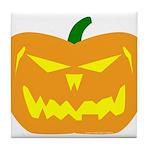 Scary Pumpkin Halloween Tile Coaster