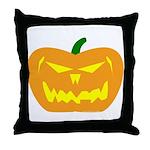Scary Pumpkin Halloween Throw Pillow