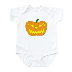Scary Pumpkin Halloween Infant Bodysuit