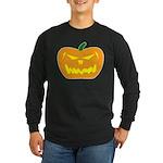Scary Pumpkin Halloween Long Sleeve Dark T-Shirt