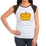 Scary Pumpkin Halloween Women's Cap Sleeve T-Shirt