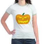 Scary Pumpkin Halloween Jr. Ringer T-Shirt
