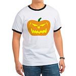 Scary Pumpkin Halloween Ringer T