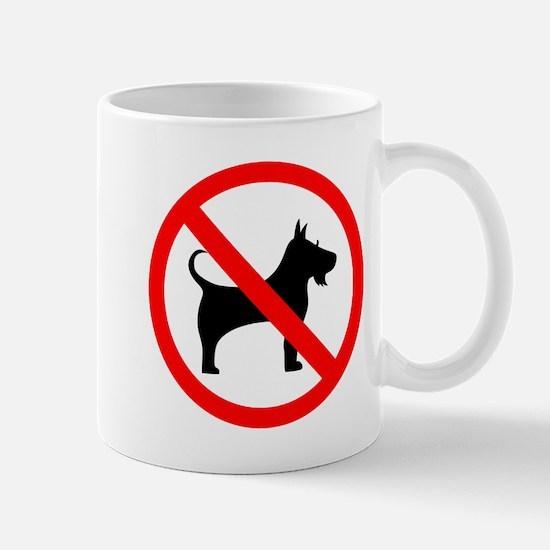 No dog sign Mugs