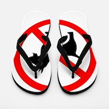 No dog sign Flip Flops