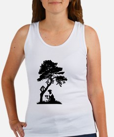 Tree and dogs landscape Tank Top