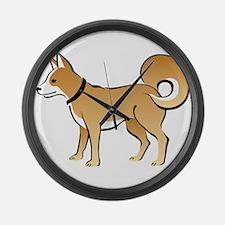 Eskimo dog Large Wall Clock