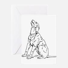 Barking dog drawing Greeting Cards