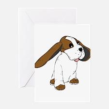 Big eared dog Greeting Cards
