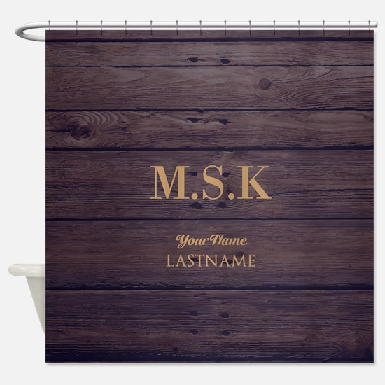 Rustic Barn Wood Personalized Shower Curtain
