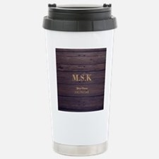 Rustic Barn Wood Person Travel Mug