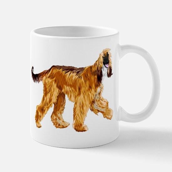 Brown afghan hound Mugs
