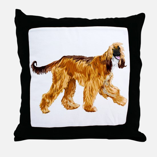 Brown afghan hound Throw Pillow