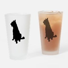 Barbet dog silhouette Drinking Glass
