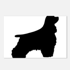 afghan hound dog silhouet Postcards (Package of 8)
