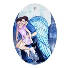 Gordeeva and Grinkov Never Alone Oval Ornament