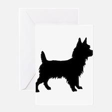 Australian terrier silhouette Greeting Cards