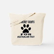 My Heart Beats For Australian Mist Cat Tote Bag