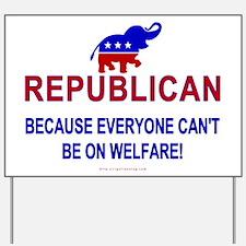 Republican Yard Sign