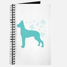 Great Dane Snowflake Journal