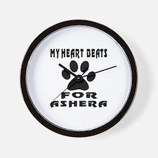 My Heart Beats For Ashera Cat Wall Clock